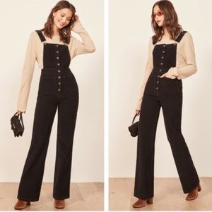 NEW REFORMATION Cassidy Corduroy Wide Leg Overall